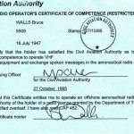 CAA Radio Certificate