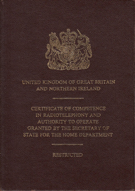 UK Marine Radio Certificate