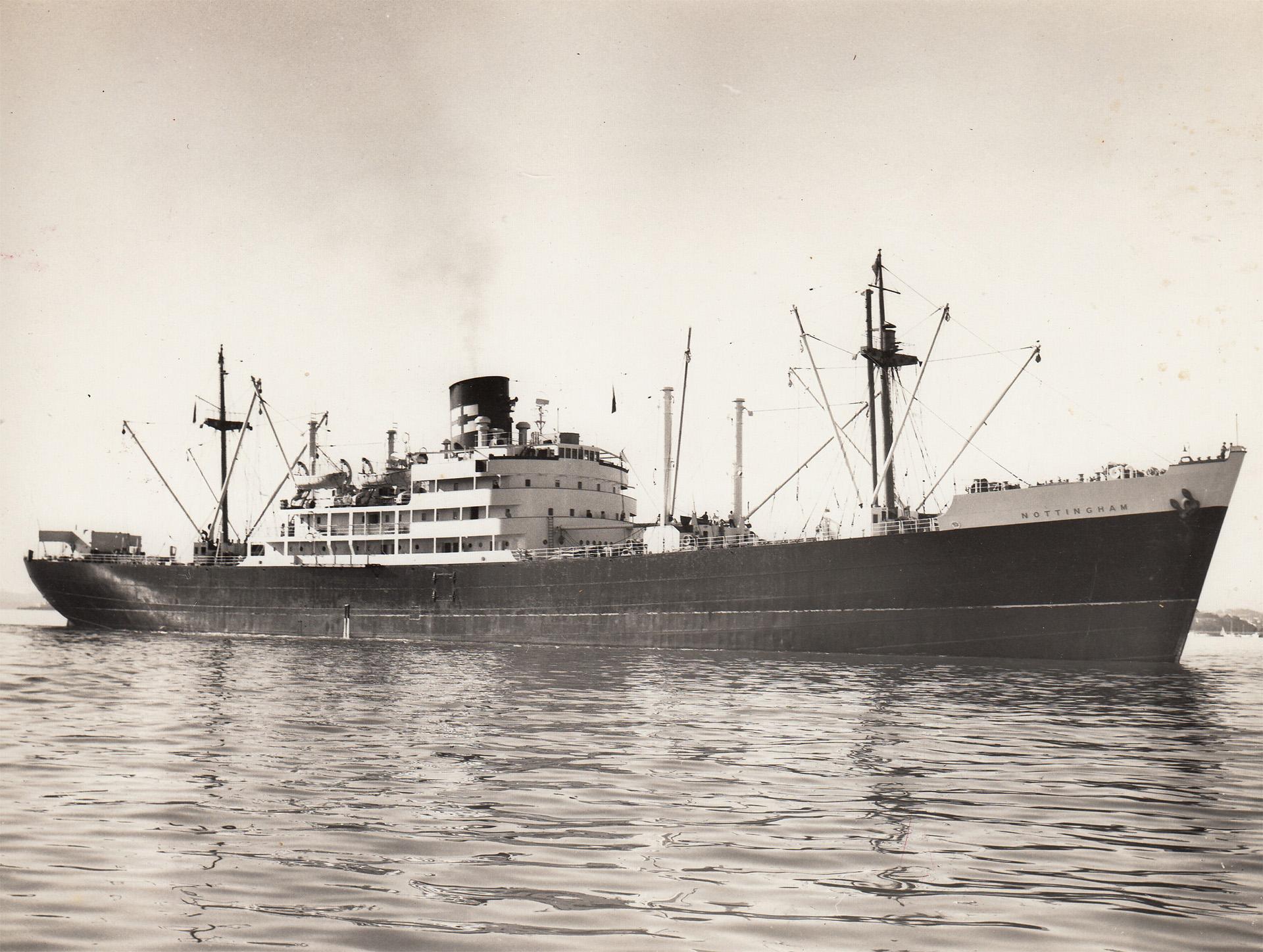 mv Nottingham in harbour
